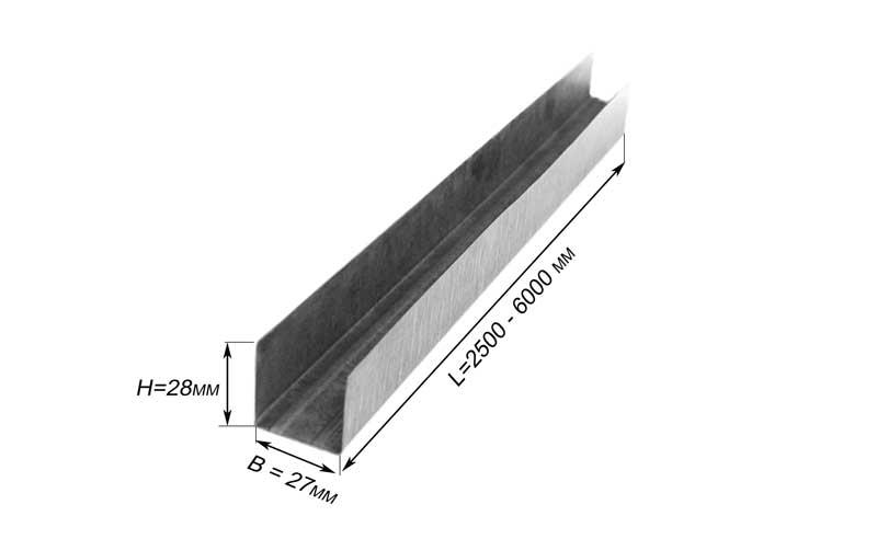 Профиль Потолочный Направляющий Ппн 27Х28